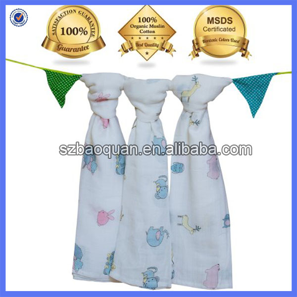 70& bamboo 30% cotton gauze muslin swaddle cloths