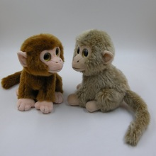 Amazon High Quality Factory Simulation Stuffed Plush monkey Animal Toys with lower order quantities