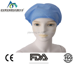 6fa1d498 hospital surgeon disposable non woven medical nurse bouffant cap/doctors disposable  surgical operating room scrub