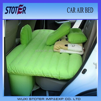 Inflatable Car Back Seat Air Bed Mattress With Children Safety Wall