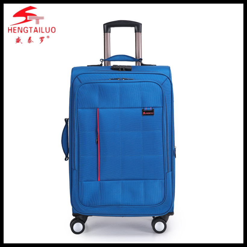 fashion new design 4 wheels trolley luggage/suitcase factory export directly