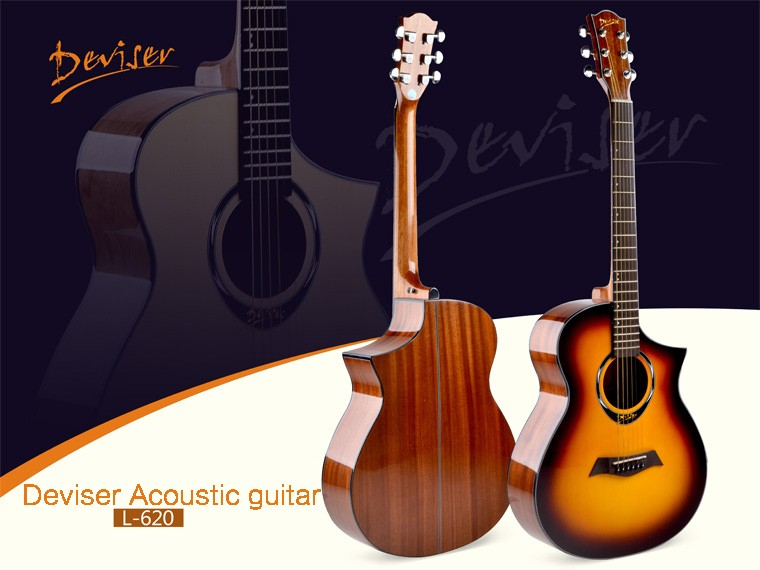 Musical instruments Deviser L-620 high quality acoustic guitar wholesale, hot sale acoustic guitar with low price