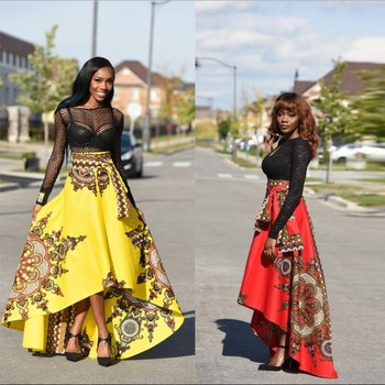 Zm40a Fashion African Clothes Dress Patterns Hottest Print Skirts New African Dress Patterns