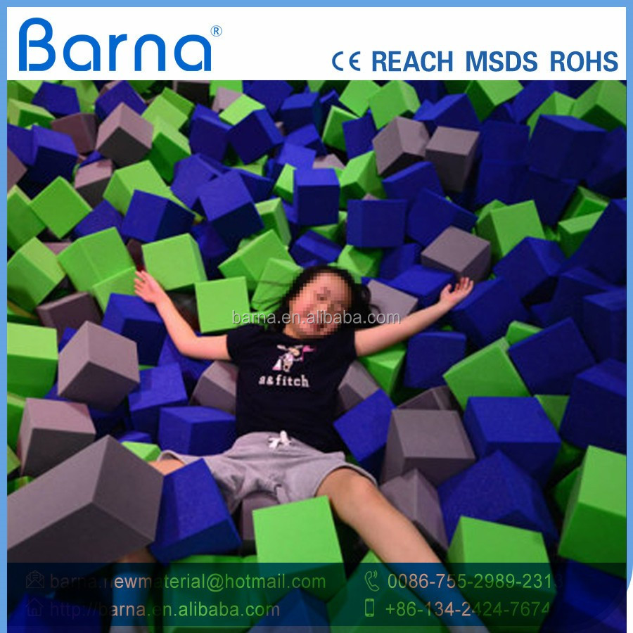 Party Inflatable Foam Pit Commercial Inflatable Foam Pit Gymnastics Trampolines With Foam Pit For Sale With Safety Net
