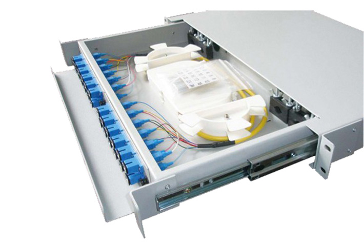 24 Cores Rack Mount Drawer Type Fiber Patch Panel with SC/FC/LC adapter