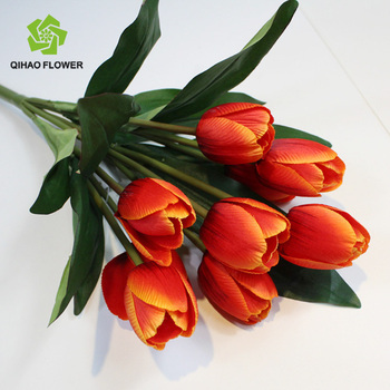 artificial flower tulip mini artificial flower pot