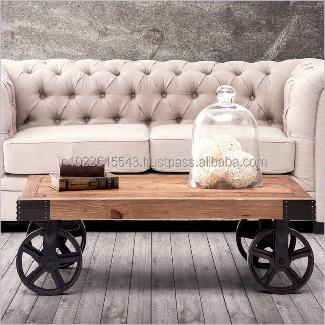Furniture Coffee Table On Wheels With Moving Product Alibaba