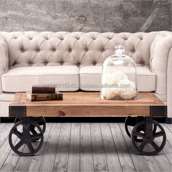 Furniture Coffee Table On Wheels