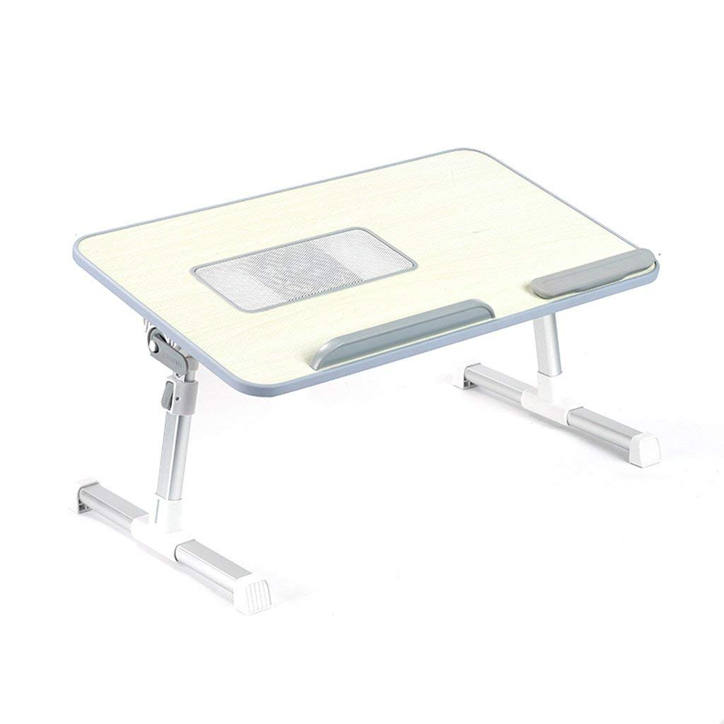 GAOYANG Laptop Bed Tray Table, Adjustable Laptop Bed Stand, Portable Standing Table with Foldable Legs, Foldable Lap Tablet Table for Sofa Couch Floor (Color : B, Size : 603324CM)