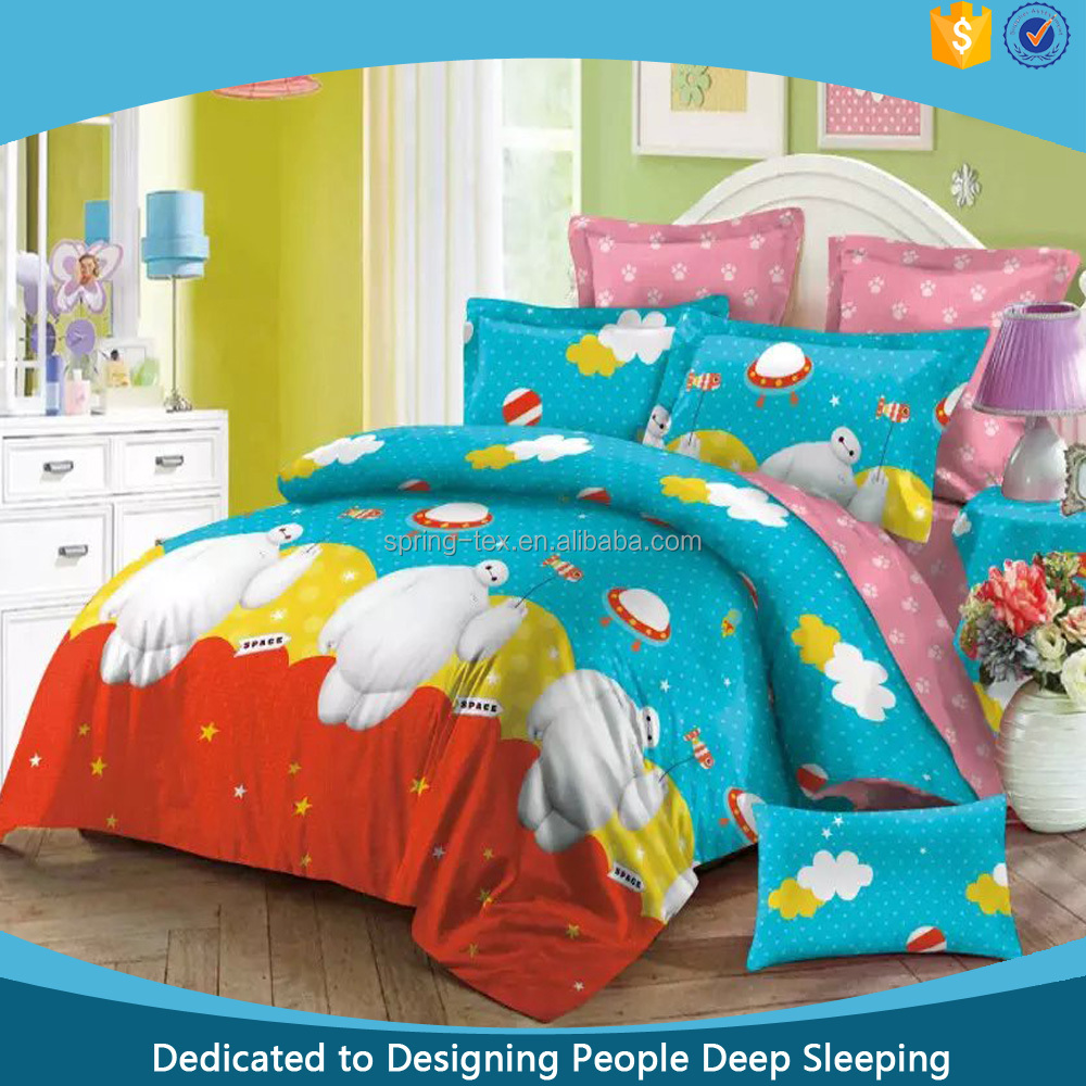 Good Quality For 100 Cotton Kid Bedding And Cartoon Bed Sheets Children