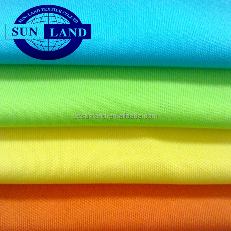spring fashion dress lining sports t shirts <strong>material</strong> 100% polyester 75D yarn weft knitting fabric textiles