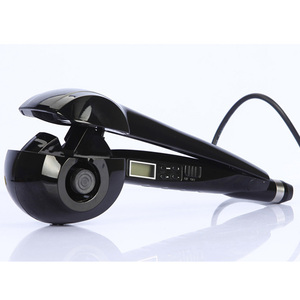 hot selling auto hair curler hair roller curler with LCD display temp settings hair curling iron