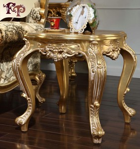 classical baroque furniture -Gilding golden foil royalty table