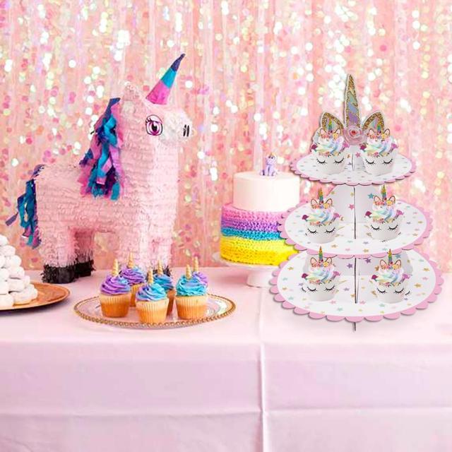 Awesome Unicorn Birthday Cake Decorations Cupcake Stand Display Unicorn Funny Birthday Cards Online Eattedamsfinfo