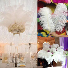 70-75 cm Kustom Massal Putih Ostrich Feather