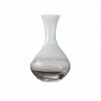 Fusion table glass vintage lead crystal decanter without handle