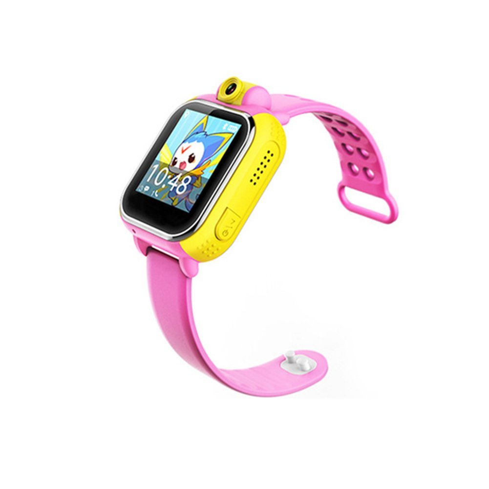 Bluetooth Smart Watch for Kids, Multi-functional Bluetooth Wristwatch with WiFi+GPS+LBS +AGPS4 Mode Location, Anti-lostSmartwatch for IOS & Android (Pink)