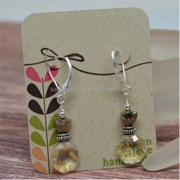 earrings kraft display ear cards packaging prices studs jewelry brown paper crown shape crads item card
