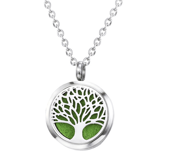 Premium aromatherapy essential oil diffuser necklace locket pendant premium aromatherapy essential oil diffuser necklace locket pendant tree of life pendant with chain and washable aloadofball Images