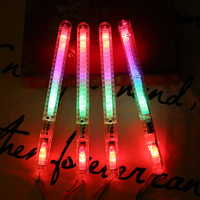 Promotional battery operated christmas Concert Cheering stick Custom color Glow 3d led flashing rgb string light stick