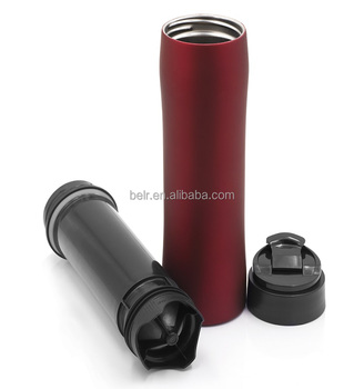 Thermos Bottle For Coffee Holder Hot Ing 350 Ml Portable Stainless Steel Novelty French Press
