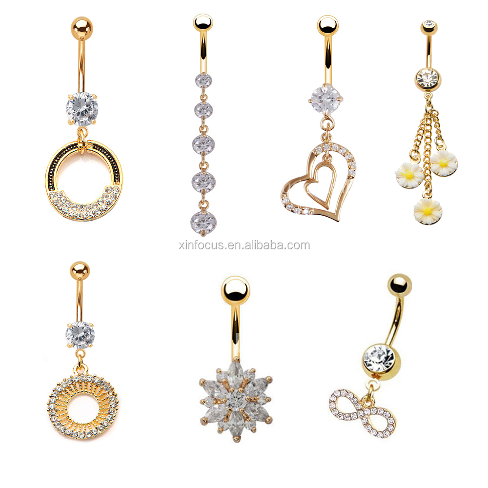 Gold Plated Belly Button Rings