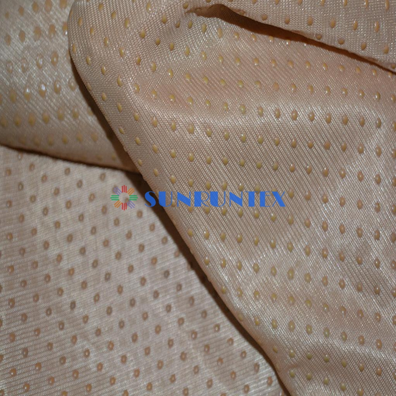 polyester anti slip fabric non slip fabric