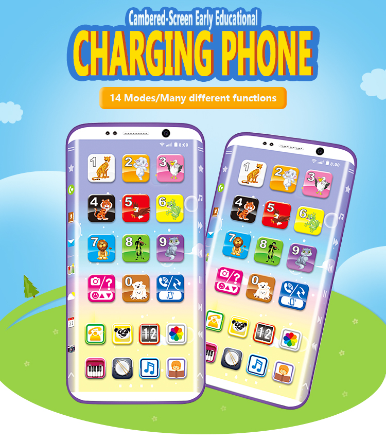 Cheap USB charging talking phone kids educational toy