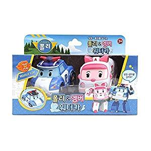 Robocar Poli Water Car Poli & Amber, Hydro Wheels, Korean TV Animation Bath Vehicle by Robocar Poli