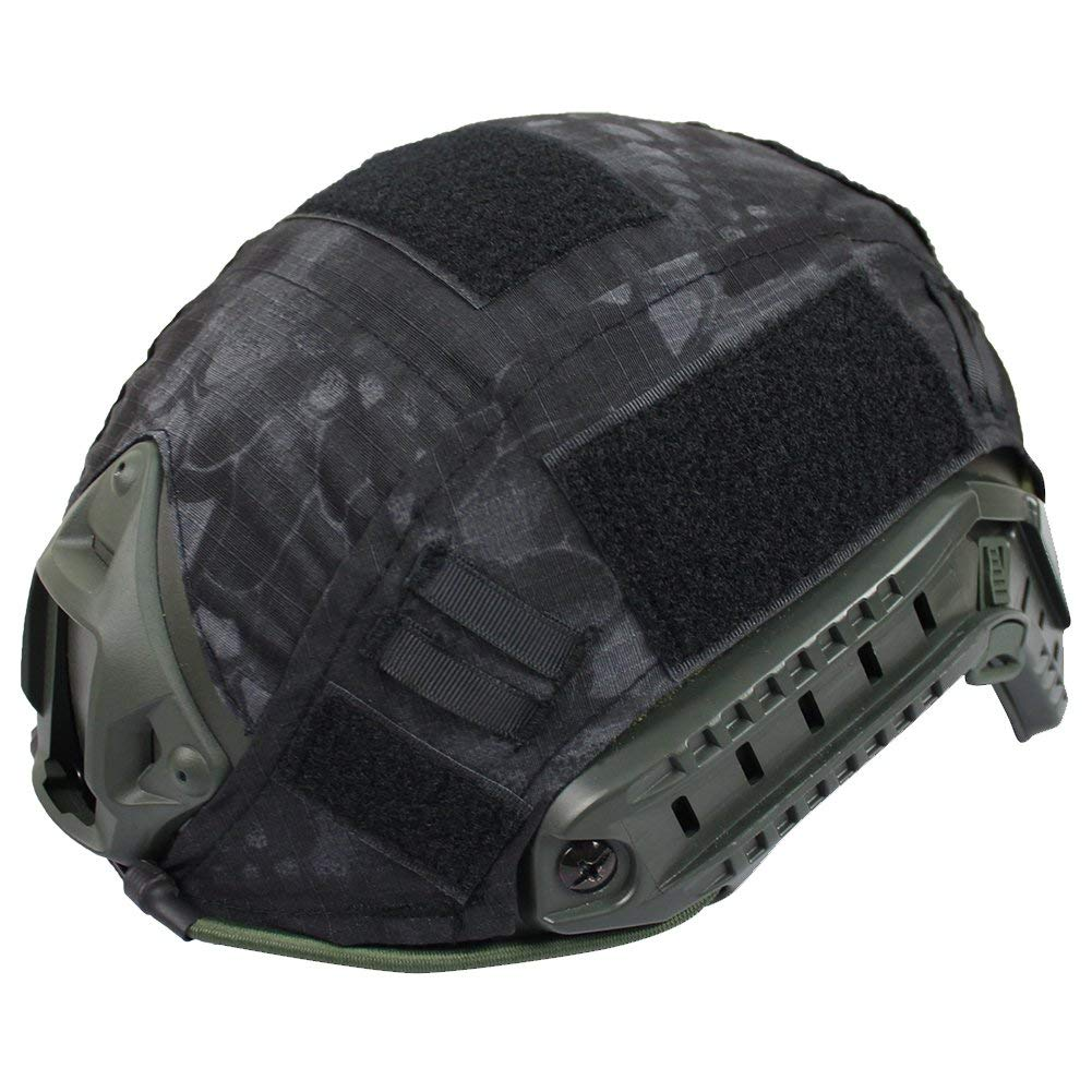 Asixx Fast Helmet Cover, Fast Helmet Covers1pc 2 Colors Game Hunting Paintball Combat Camouflage Helmet Cover Colorfast, Tear-resistance and Durablefor Fast Helmet