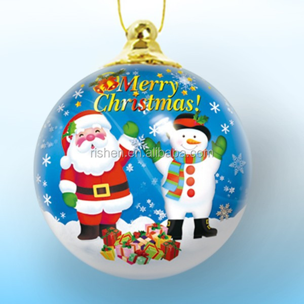 christmas ball tree printed swing santa and snow ornamnets