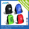 2015 new style nylon plastic drawstring bag for students