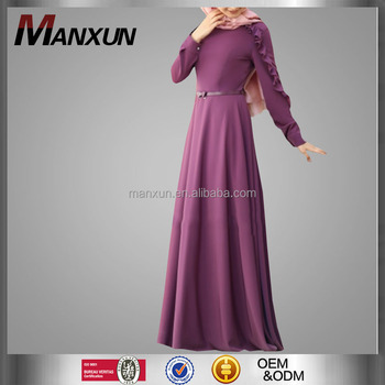 f28d9f288b2b New Design Muslim Abaya Famous Women Islamic Wedding Dress Dubai Style