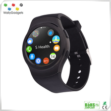 2017 New Design Round Screen MTK2502C smart watch bluetooth phone For IOS & Android