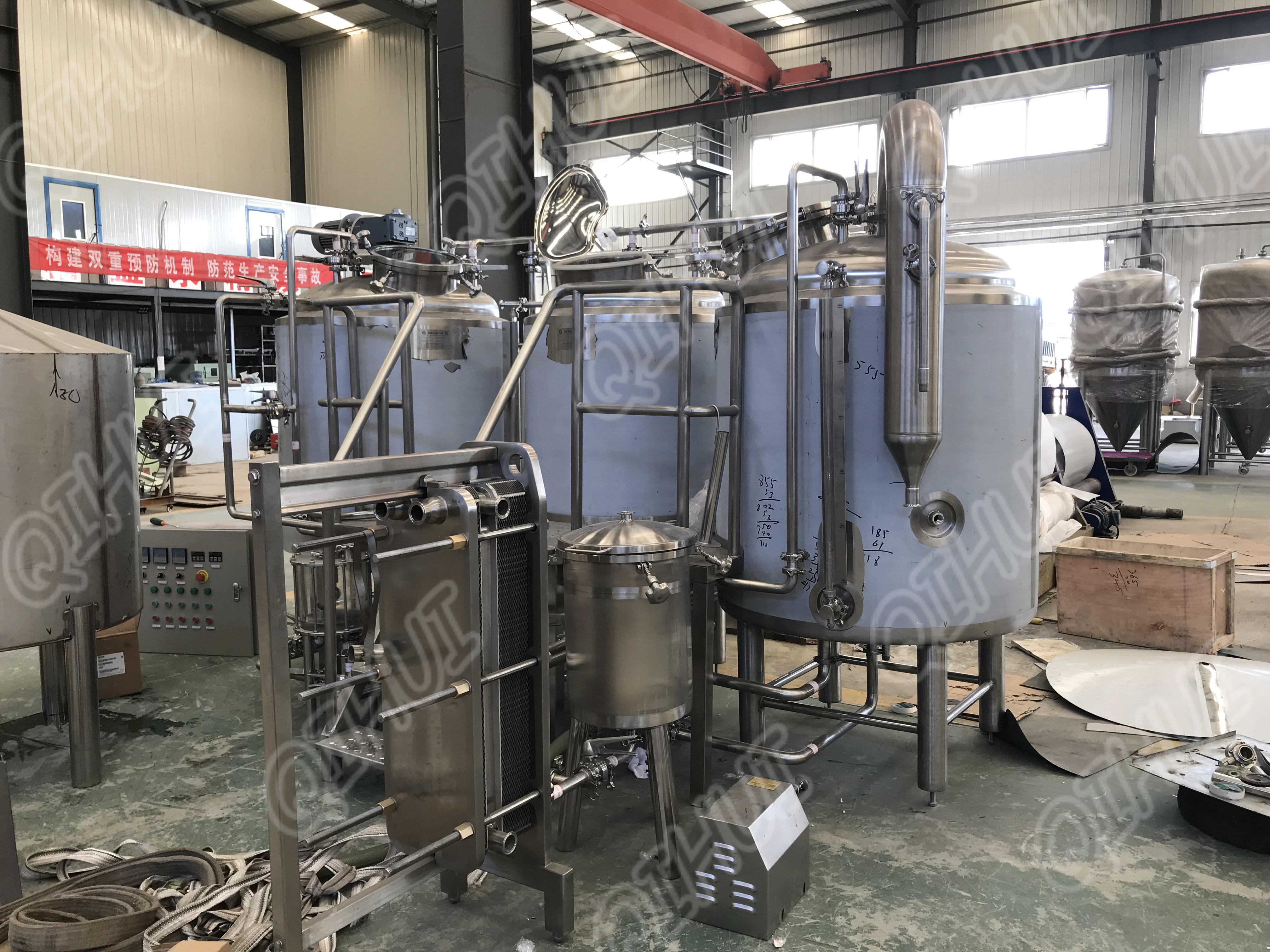 Micro 500L craft beer brewing machine brewery equipment
