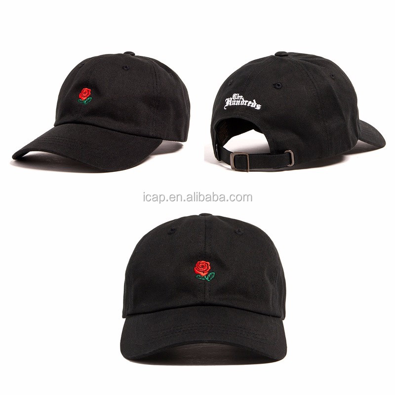 wholesale 6 panel embroidery logo unstructured dad hat custom cotton baseball cap