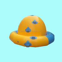 Factory Price High Quality Inflatable Spinner Water Toy Towable Crazy UFO