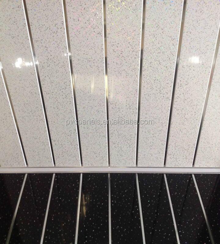 panneau de plafond tanche pvc plafond plafond salle de bains tuiles tincelle toiles panneau de - Plafond Pvc Salle De Bain