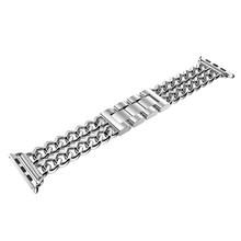 Ремешок для Apple Watch Band 38 мм 42 мм сплав стальной ремешок для iWatch Band Series 1 2 3 4 40 мм 44 мм цепочка браслет Стиль Новое золото(Китай)