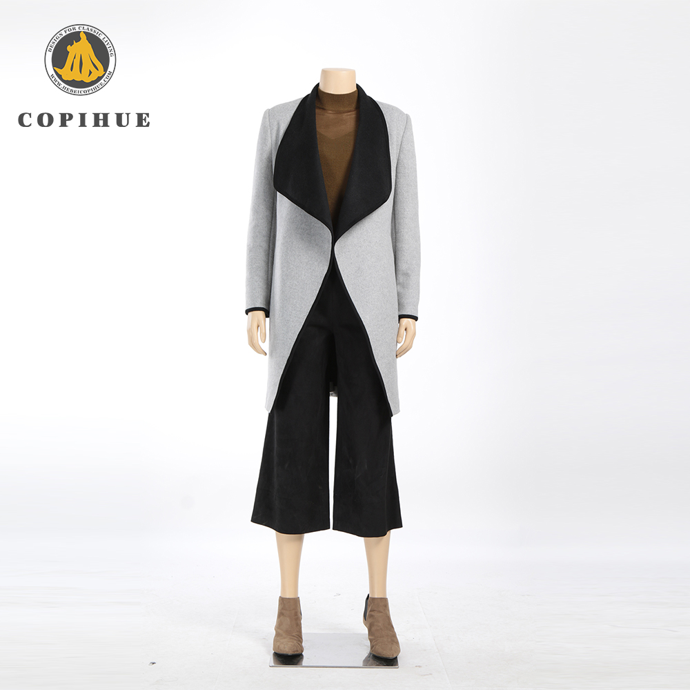 fashion european style ladies cardigan woolen wind coat