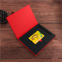 Custom Paper Membership Card Boxes Red Paperboard Vip Card&Bank Card Gift Storage Organizer Case