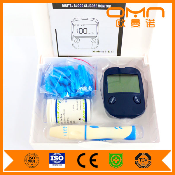 No Strips Blood Sugar Meter Blood Glucose Monitor Accu Chek Active One Step Glucometro Code Free Hospital Use Kits for Adults