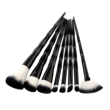 Black 8Pcs Brushes Set Professional Soft Makeup Foundation Brush For Eye Face Shadows Lip Liner Powder Make Up Brush Tools