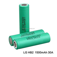 Best selling LG HB2 30A 1500mAh 3.7V rechargeable battery li-ion