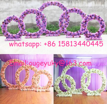 Large flower arch round shape metal wedding arch for outdoor indoor large flower arch round shape metal wedding arch for outdoor indoor decoration junglespirit Choice Image