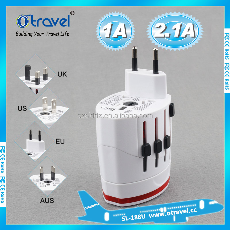 usb Universal Travel Plug Power Outlet Socket Adapter Converter US UK AU Europe with Dual USB Charger Port