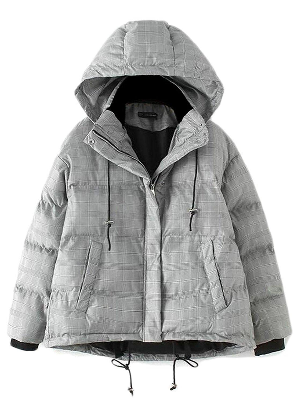 XiaoTianXin-men clothes XTX Mens Loose Hooded Zip Front Lightweight Winter Down Quilted Jacket Coat