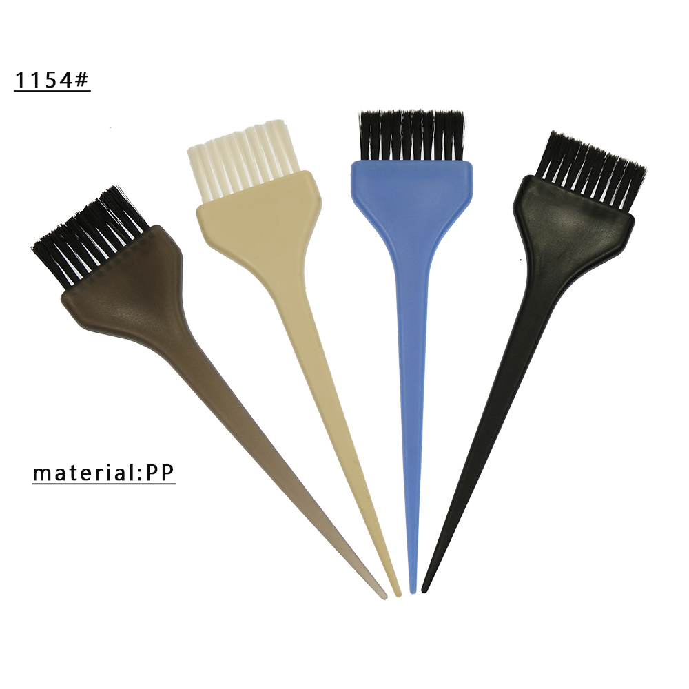 plastic material nylon bristle hair dyeing brush manufacture