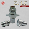 "ZJ-LC steel 1"" wing nut roller tractor quick release female screw to connect coupling"
