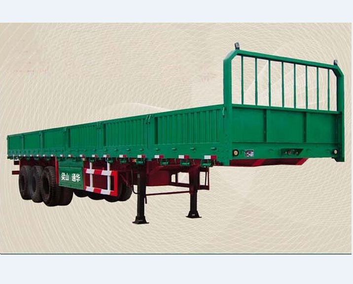 Huicheng 55T cargo truck trailer/column side board semitrailer with container lock
